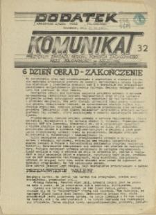 """Komunikat Prezydium Zarządu Regionu Pomorza Zachodniego NSZZ """"Solidarność"""". 1981 nr 32"""