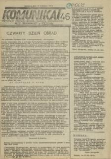 """Komunikat Prezydium Zarządu Regionu Pomorza Zachodniego NSZZ """"Solidarność"""". 1981 nr 46"""