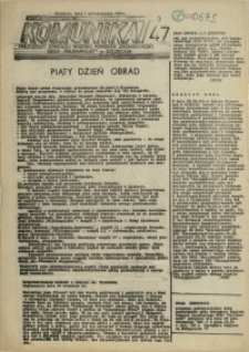 """Komunikat Prezydium Zarządu Regionu Pomorza Zachodniego NSZZ """"Solidarność"""". 1981 nr 47"""