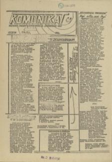 """Komunikat Prezydium Zarządu Regionu Pomorza Zachodniego NSZZ """"Solidarność"""". 1981 nr 61"""