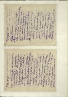 Listy Stanisława Ignacego Witkiewicza do żony Jadwigi z Unrugów Witkiewiczowej. List z 08.12.1927. List z 09.12.1927