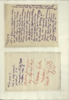Listy Stanisława Ignacego Witkiewicza do żony Jadwigi z Unrugów Witkiewiczowej. List z 13.12.1927. List z 14.12.1927.