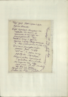 Listy Stanisława Ignacego Witkiewicza do żony Jadwigi z Unrugów Witkiewiczowej. List z 16.12.1927