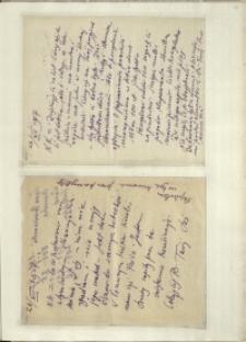 Listy Stanisława Ignacego Witkiewicza do żony Jadwigi z Unrugów Witkiewiczowej. List z 23.12.1927. List z 26.12.1927