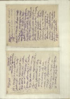 Listy Stanisława Ignacego Witkiewicza do żony Jadwigi z Unrugów Witkiewiczowej. List z 28.12.1927. List z 29.12.1927.