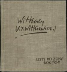 Listy Stanisława Ignacego Witkiewicza do żony Jadwigi z Unrugów Witkiewiczowej. List z 02.01.1928