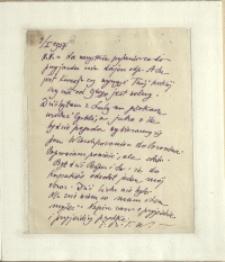 Listy Stanisława Ignacego Witkiewicza do żony Jadwigi z Unrugów Witkiewiczowej. List z 04.01.1928