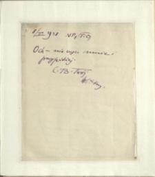 Listy Stanisława Ignacego Witkiewicza do żony Jadwigi z Unrugów Witkiewiczowej. List z 08.01.1928