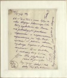 Listy Stanisława Ignacego Witkiewicza do żony Jadwigi z Unrugów Witkiewiczowej. List z 14.01.1928