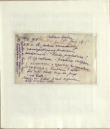 Listy Stanisława Ignacego Witkiewicza do żony Jadwigi z Unrugów Witkiewiczowej. List z 20.01.1928