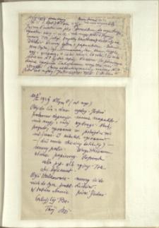 Listy Stanisława Ignacego Witkiewicza do żony Jadwigi z Unrugów Witkiewiczowej. List z 11.01.1929. List z 13.01.1929.