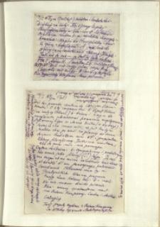 Listy Stanisława Ignacego Witkiewicza do żony Jadwigi z Unrugów Witkiewiczowej. List z 14.01.1929. List z 16.01.1929.