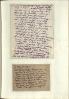 Listy Stanisława Ignacego Witkiewicza do żony Jadwigi z Unrugów Witkiewiczowej. List z 18.01.1929. Kartka pocztowa z 19.01.1929.