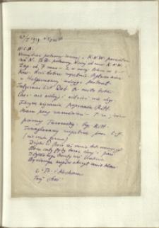 Listy Stanisława Ignacego Witkiewicza do żony Jadwigi z Unrugów Witkiewiczowej. List z 24.01.1929
