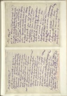 Listy Stanisława Ignacego Witkiewicza do żony Jadwigi z Unrugów Witkiewiczowej. List z 30.01.1929. List z 31.01.1929.