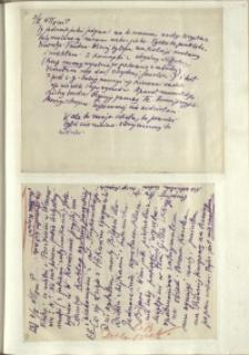 Listy Stanisława Ignacego Witkiewicza do żony Jadwigi z Unrugów Witkiewiczowej. List z 03.02.1929. List z 04.02.1929.