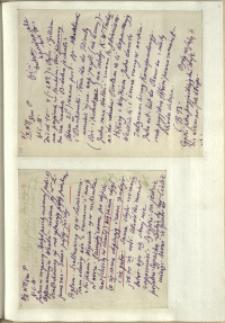 Listy Stanisława Ignacego Witkiewicza do żony Jadwigi z Unrugów Witkiewiczowej. List z 07.02.[1929]. List z 08.02.[1929]