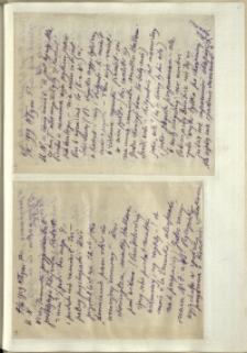 Listy Stanisława Ignacego Witkiewicza do żony Jadwigi z Unrugów Witkiewiczowej. List z 06.03.1929. List z 07.03.1929.