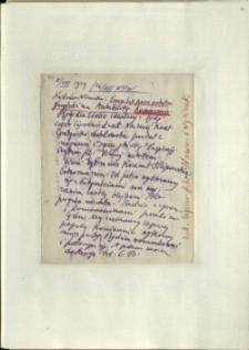 Listy Stanisława Ignacego Witkiewicza do żony Jadwigi z Unrugów Witkiewiczowej. List z 05.08.1929.