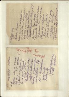 Listy Stanisława Ignacego Witkiewicza do żony Jadwigi z Unrugów Witkiewiczowej. List z 26.08.1929. List z 28.08.1929.