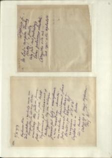 Listy Stanisława Ignacego Witkiewicza do żony Jadwigi z Unrugów Witkiewiczowej. List z 03.10.1929. List z 04.10.1929.