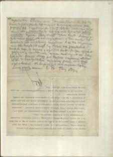 Listy Stanisława Ignacego Witkiewicza do żony Jadwigi z Unrugów Witkiewiczowej. List z 25.10.1929.