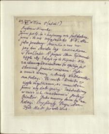 Listy Stanisława Ignacego Witkiewicza do żony Jadwigi z Unrugów Witkiewiczowej. List z 29.06.1930.