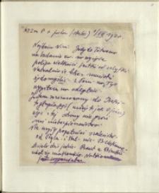 Listy Stanisława Ignacego Witkiewicza do żony Jadwigi z Unrugów Witkiewiczowej. List z 01.07.1930.
