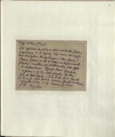 Listy Stanisława Ignacego Witkiewicza do żony Jadwigi z Unrugów Witkiewiczowej. Kartka pocztowa z 05.07.1930.