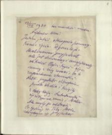 Listy Stanisława Ignacego Witkiewicza do żony Jadwigi z Unrugów Witkiewiczowej. List z 13.07.1930.