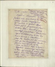 Listy Stanisława Ignacego Witkiewicza do żony Jadwigi z Unrugów Witkiewiczowej. List z 14.07.1930.