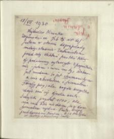 Listy Stanisława Ignacego Witkiewicza do żony Jadwigi z Unrugów Witkiewiczowej. List z 18.07.1930.