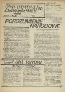 """Komunikat Prezydium Zarządu Regionu Pomorza Zachodniego NSZZ """"Solidarność"""". 1981 nr 90"""