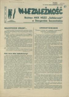 """Niezależność : biuletyn informacyjny NSZZ """"Solidarność"""" w Stargardzie Szczecińskim. 1981 nr 7"""