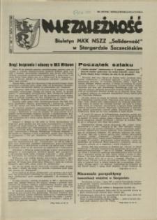 """Niezależność : biuletyn informacyjny NSZZ """"Solidarność"""" w Stargardzie Szczecińskim. 1981 nr 17"""