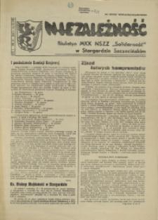 """Niezależność : biuletyn informacyjny NSZZ """"Solidarność"""" w Stargardzie Szczecińskim. 1981 nr 21"""