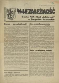 """Niezależność : biuletyn informacyjny NSZZ """"Solidarność"""" w Stargardzie Szczecińskim. 1981 nr 22"""