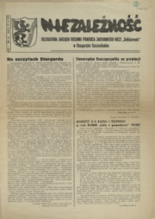 """Niezależność : biuletyn informacyjny NSZZ """"Solidarność"""" w Stargardzie Szczecińskim. 1981 nr 24"""