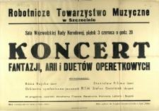 [Afisz. Inc.:] Koncert Fantazji, Arii i Duetów Operetkowych