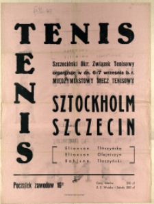 [Afisz. Inc.:] Tenis