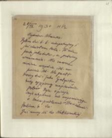 Listy Stanisława Ignacego Witkiewicza do żony Jadwigi z Unrugów Witkiewiczowej. List z 28.07.1930.
