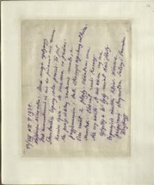 Listy Stanisława Ignacego Witkiewicza do żony Jadwigi z Unrugów Witkiewiczowej. List z 12.08.1930.