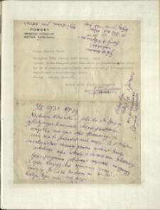 Listy Stanisława Ignacego Witkiewicza do żony Jadwigi z Unrugów Witkiewiczowej. List z 09.05.1931.