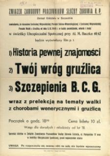 [Afisz] Związek Zawodowy Pracowników Służby Zdrowia R.P. Zarząd Oddziału w Szczecinie zawiadamia [...]