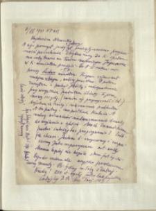 Listy Stanisława Ignacego Witkiewicza do żony Jadwigi z Unrugów Witkiewiczowej. List z 08.07.1931. List pisany na odwrocie listu Stanisława Zawadzkiego.