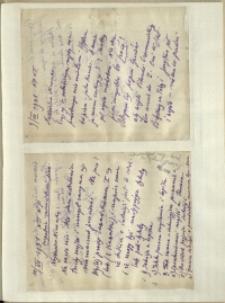Listy Stanisława Ignacego Witkiewicza do żony Jadwigi z Unrugów Witkiewiczowej. List z 09.07.1931. List z 10.07.1931.