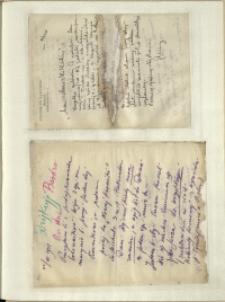 Listy Stanisława Ignacego Witkiewicza do żony Jadwigi z Unrugów Witkiewiczowej. List z 21.07.1931. List z 22.07.1931.