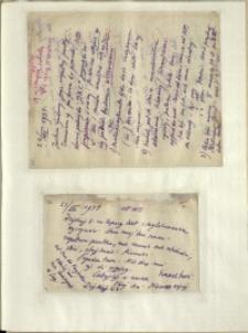 Listy Stanisława Ignacego Witkiewicza do żony Jadwigi z Unrugów Witkiewiczowej. List z 22.07.1931. List z 23.07.1931.