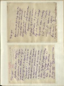 Listy Stanisława Ignacego Witkiewicza do żony Jadwigi z Unrugów Witkiewiczowej. List z 29.07.1931. List z 31.07.1931.