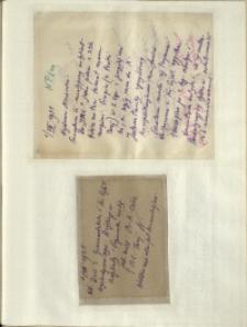 Listy Stanisława Ignacego Witkiewicza do żony Jadwigi z Unrugów Witkiewiczowej. List z 01.08.1931. Kartka pocztowa z 03.08.1931.